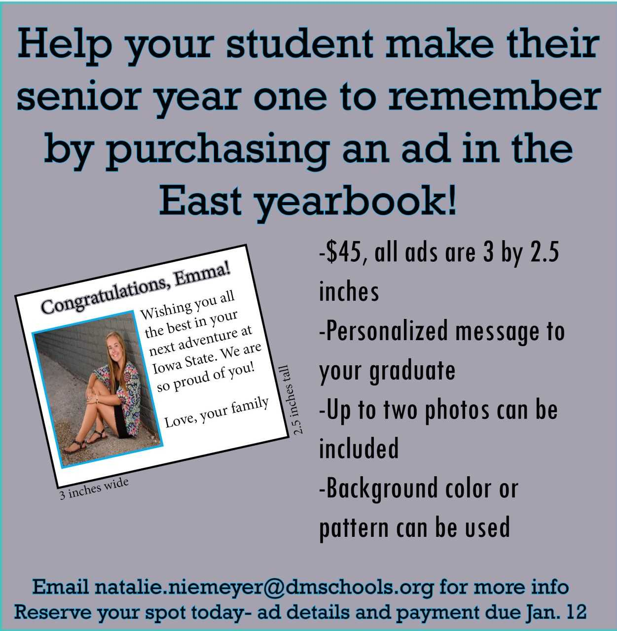 Information for Purchasing Yearbook Ads