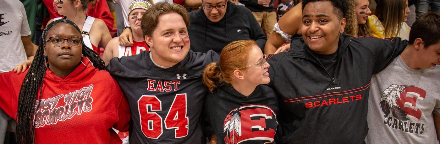 East High School Students Cheering